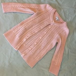 Pink Tildon Fisherman 3/4 Sleeve Cardigan